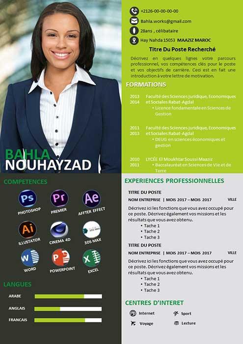 CV Spécialisé Infographie