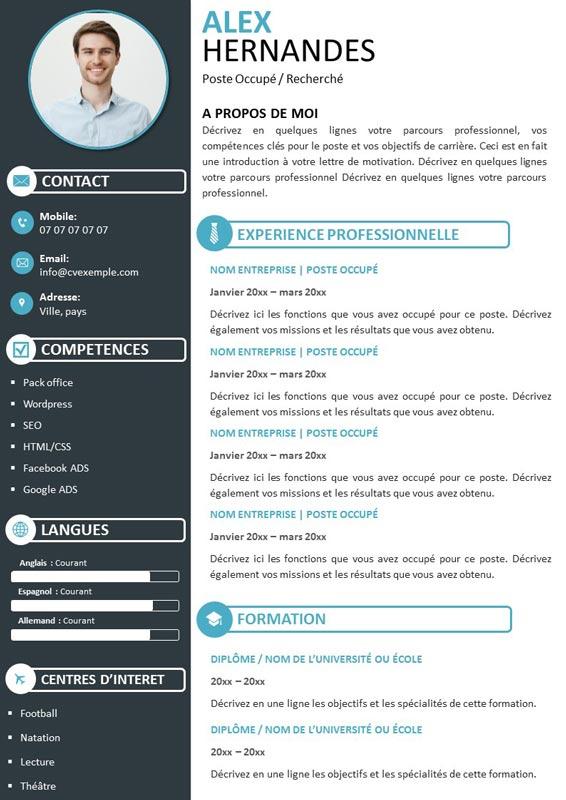 CV Graphique à Télécharger