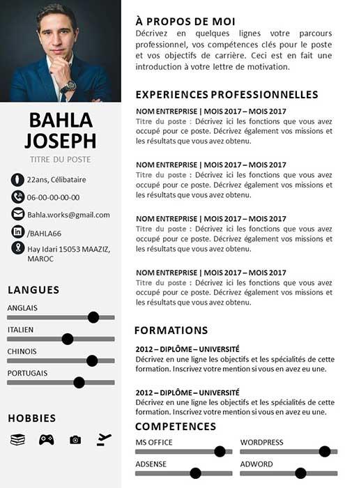 CV Animateur