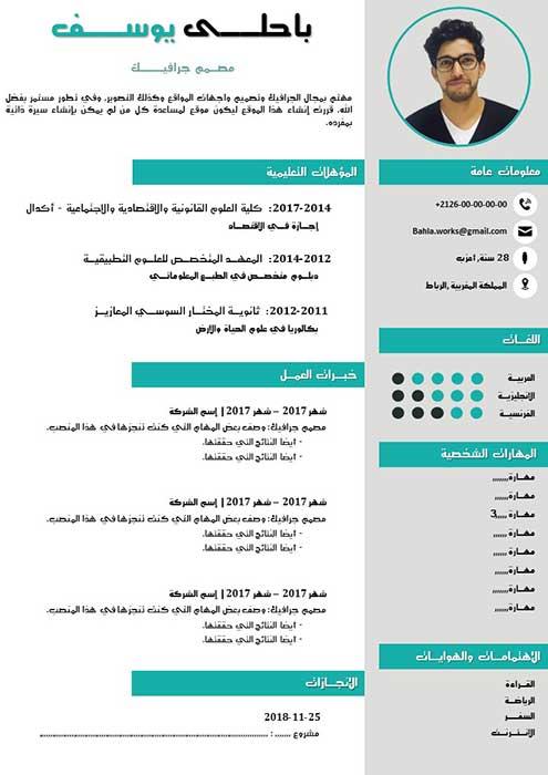 CV Arabe Réussi